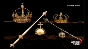 Sweden's crown jewels stolen from cathedral