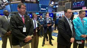 New York Stock Exchange holds minute of silence for shooting victims