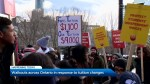 Walkouts across Ontario in response to tuition changes