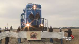 Southern Alberta's first short line railway in action