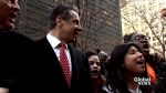 New York Governor Andrew Cuomo joins student walkout