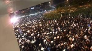 Hong Kong demonstrators protest outside Edinburgh Place, city hall ahead of G20