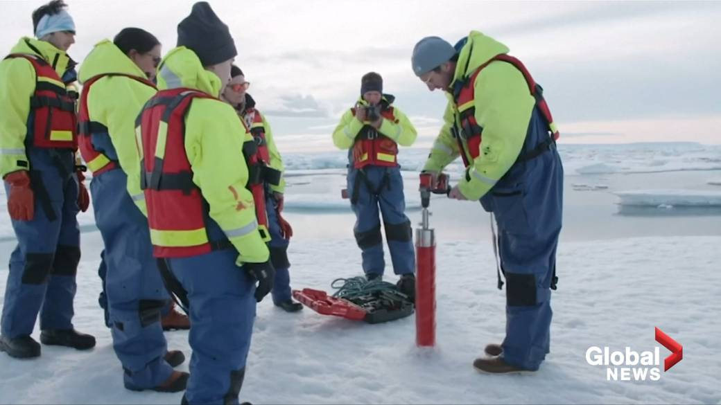 Click to play video: 'Scientists find microplastics deep in Arctic ice'