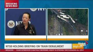 Authorities unsure if speed a factor in Washington train derailment