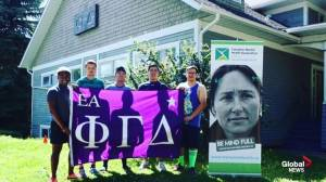 Phi Gamma Delta fraternity fundraising relay race to Red Deer (04:03)