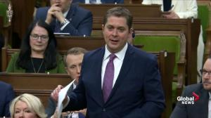 Scheer asks Trudeau if he knew about call between JWR, Wernick over SNC-Lavalin