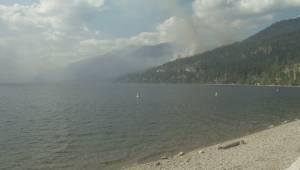 Crews battle Mt. Eneas fire in Summerland (00:42)