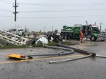 Two-vehicle crash closes Manitoba highway Monday
