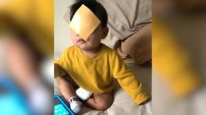 Videos show parents throwing cheese slices at their babies' faces