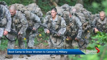 First female U S  Navy SEAL candidate drops out of training