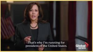 California Senator Kamala Harris announces her run for President in 2020