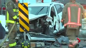 3 people rushed to hospital after serious crash in North York