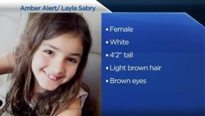 Amber Alert issued for 9-year-old Ontario girl