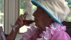 100-year-old woman credits love of wine for long life