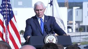 VP Mike Pence announces Trump's Space Command after SpaceX scrubbed launch