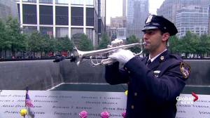 Trumpets signal end of 9/11 anniversary ceremony in New York City