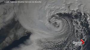 Satellite imagery captures 'Bomb Cyclone' path from sunrise to sunset