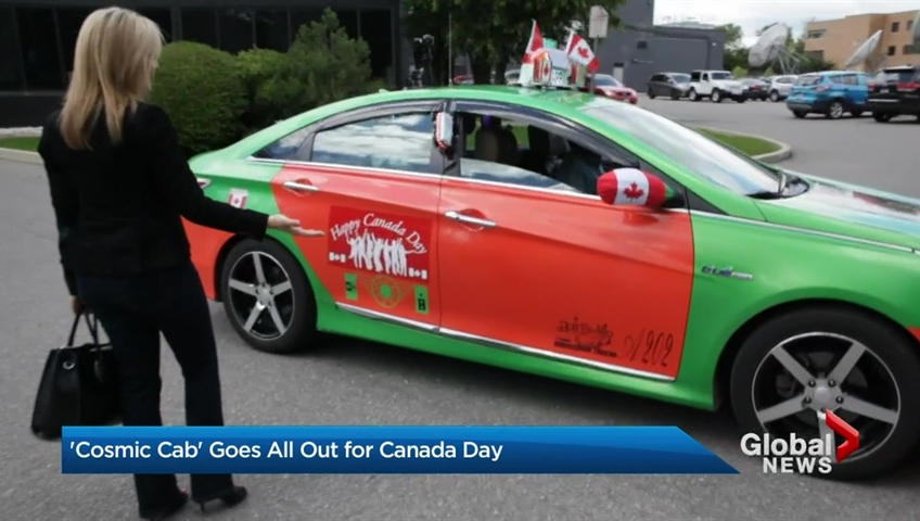 Canadian Cab Guelph >> Toronto S Cosmic Cab Goes All Out For Canada Day Toronto