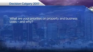Calgary election 2017: Mayoral candidates answer your questions on property and business taxes
