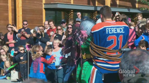 SpiderMable rescues Andrew Ference and saves the day