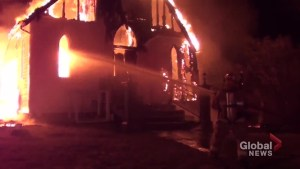 Fire destroys historic church in Roseneath