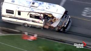 Woman leads police in California on wild chase in stolen motor home