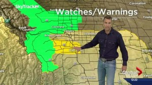 Severe weather watches and warnings blanket southern Alberta
