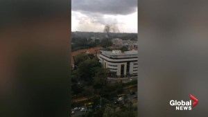 Social media video shows smoke rising from scene of Kenya hotel attack