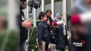 Grade 6 student Miguel fires up the crowd at March for Our Lives rally in Vancouver