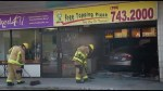 Car crashes into pizza restaurant in Peterborough