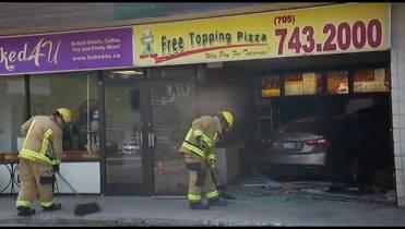 Driver crashes into pizza restaurant in Peterborough - Peterborough