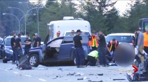 Police search for suspect involved in bizarre Hwy 3 fatal crash