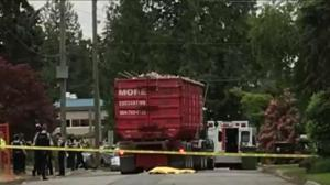 Deadly dump truck crash at North Vancouver construction site