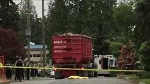 Deadly dump truck crash at North Vancouver construction site