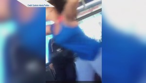 Two women fight on Translink bus