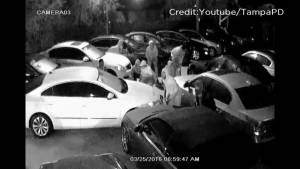 Caught on camera: Florida thieves get away in movie-esque car heist