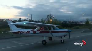 'Perfect landing' of plane on Surrey highway praised