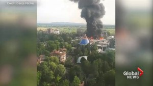 Massive fire breaks out at German's largest amusement park
