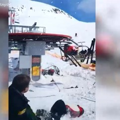 Chair Lift Accident Ethan Allen Swivel Horrific Chairlift At Georgia Resort Sends Skiers Flying