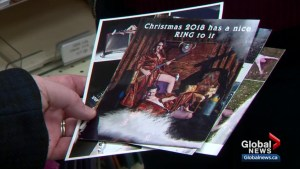 Christmas romance: saucy photo card on friend's fridge leads to wedding bells