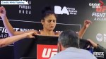 Cynthia Calvillo appears shaky, stumbles at UFC weigh-in
