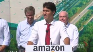 Trudeau addresses his exchange with a woman who heckled him about irregular border crossers