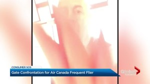 Gate confrontation for Air Canada frequent flyer