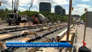 Eglinton Avenue to see more closures for LRT construction