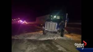 Calgary 'Good Samaritan', trucker dead after highway accident