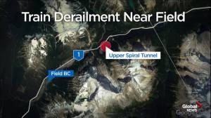 Train derails in Yoho National Park