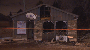 Arson suspected in Laval print shop fire