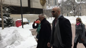 Ottawa police Const. Daniel Montsion arrives at court ahead of criminal trial