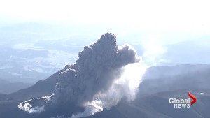 Volcano erupts in Japan spewing smoke, ash into the air