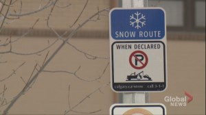 Over 1,500 tickets handed out during Calgary's first snow route parking ban